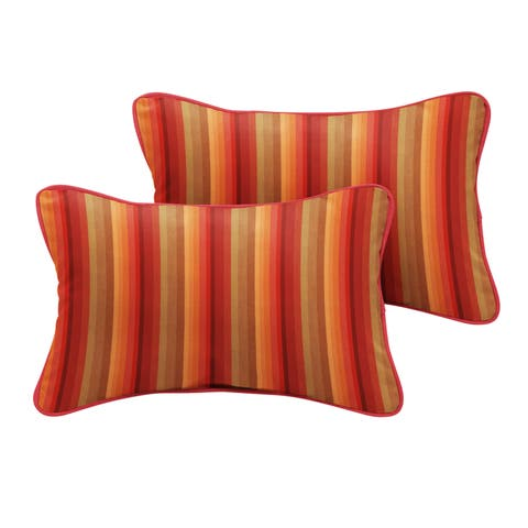 Humble + Haute Sunbrella Astoria Sunset Stripe Indoor/Outdoor Corded Pillow Set of 2