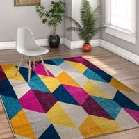Well Woven Melbourne Modern Geometric Multi Colored Area Rug - 7'10 x 9'10