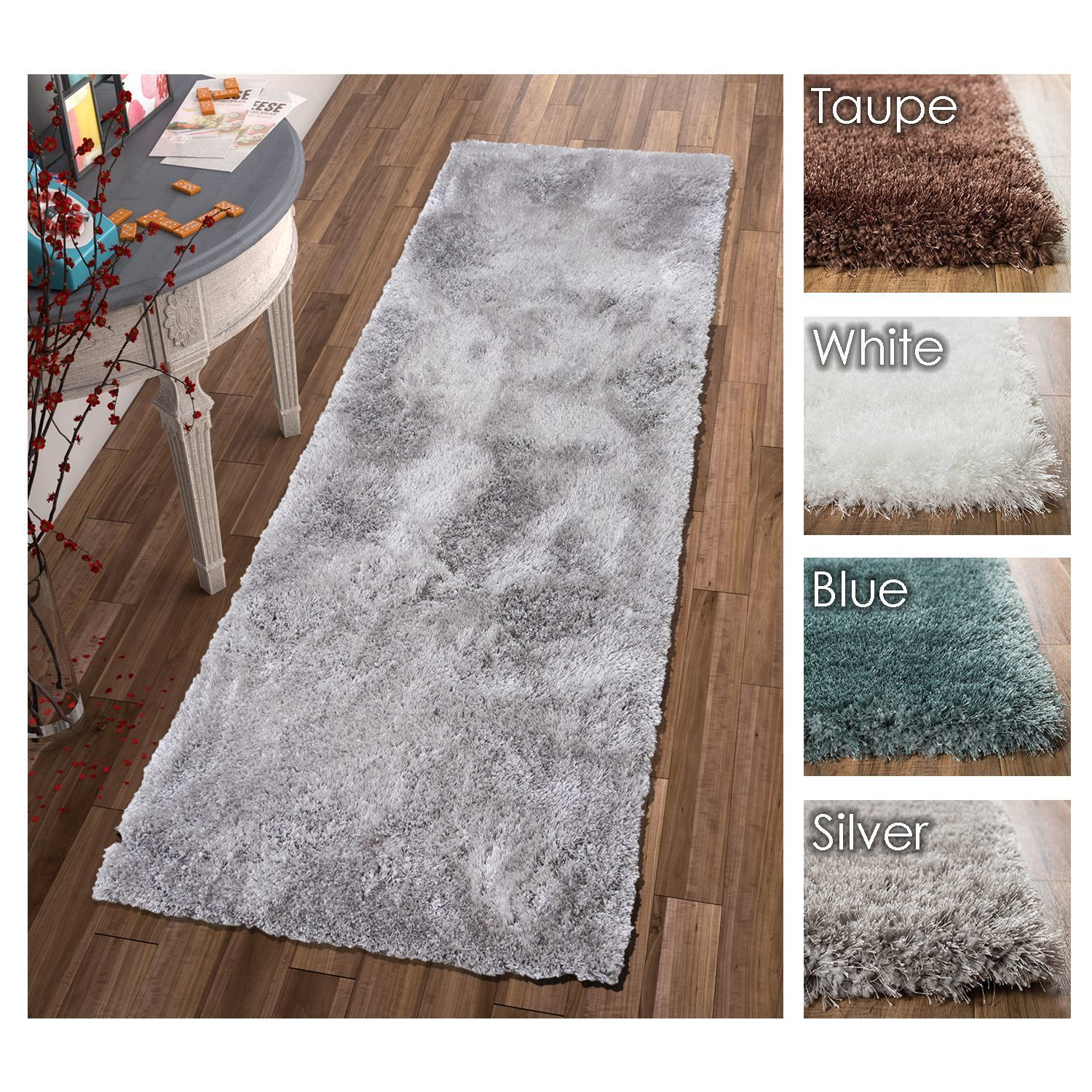 Well Woven Modern Solid Thick Runner Rug - 27 x 73 (White - White)