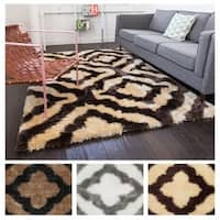 Well Woven Modern Trellis Plush Area Rug - 7'10 x 9'10