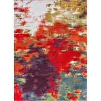 Well Woven Grace Mid-Century Abstract Shag Multi Area Rug - 2' x 3'