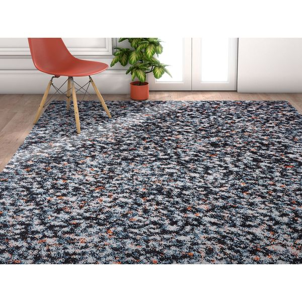 Well Woven Grace Mid-Century Shag Blue Area Rug - 7'10 x 9'10