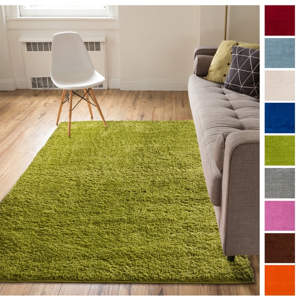 Shop Well Woven Soft Plush Solid Modern Area Rug