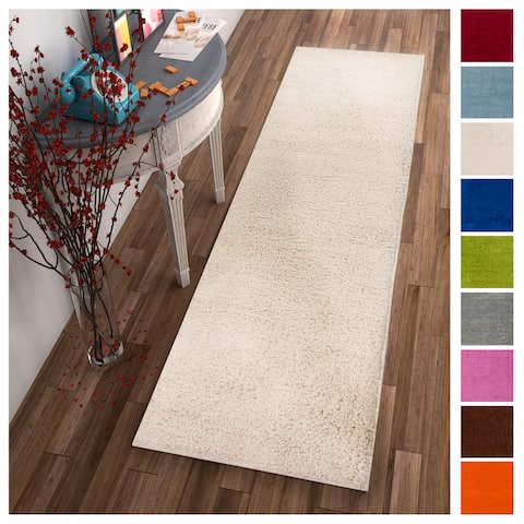 Well Woven Soft Plush Solid Runner Rug - 2' x 7' - 2' x 7'