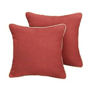 Humble + Haute Sunbrella Canvas Henna Indoor/Outdoor Corded Pillow Set of 2