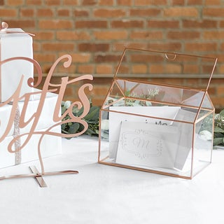 Personalized Glass Terrarium Reception Gift Card Holder