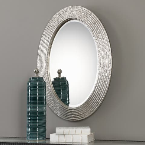 Uttermost Conder Oval Silver Mirror - 25x34x1.25