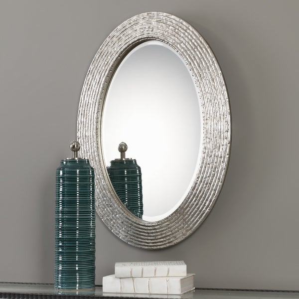 Uttermost Conder Oval Silver Mirror - 25x34x1.25