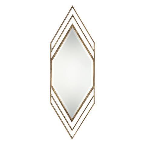 Uttermost Javon Golden Bronze Chevron Mirror - Bronze/Gold - 20x60x1
