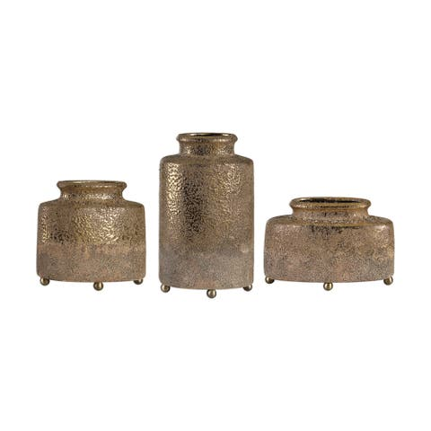 Uttermost Kallie Metallic Golden Vessels (Set of 3)