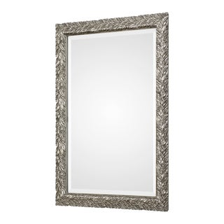 Uttermost Evelina Silver Leaves Mirror - 24.625x34.625x1