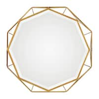 Uttermost Mekhi Antiqued Goldtone Iron Mirror