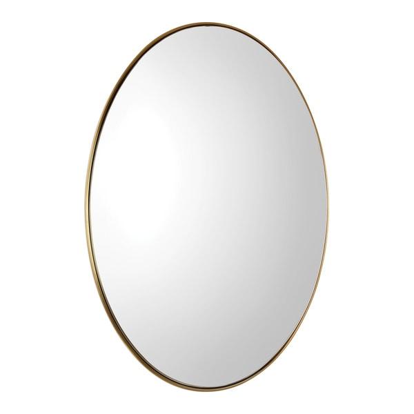 Uttermost Pursley Steel/Wood/Glass Oval Mirror - 20x30x2.25