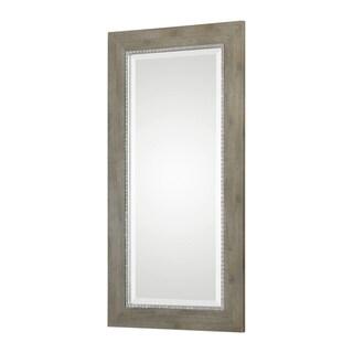Uttermost Sheyenne Wood Frame Rustic Rectangle Mirror - Antique Silver - 24x48x0.875