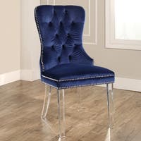 Abbyson Villette Tufted Velvet Dining Chair