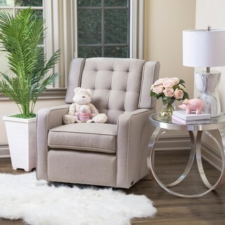 Abbyson Ashby Fabric Swivel Glider