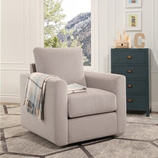 Abbyson Anthony Fabric Swivel Chair