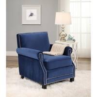 Abbyson Chloe Velvet Club Chair