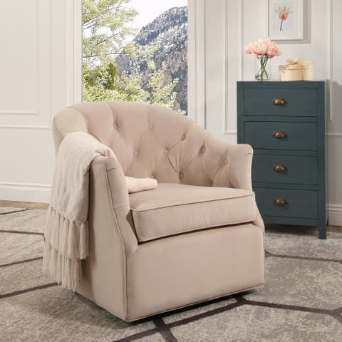 Abbyson Leland Swivel Club Chair