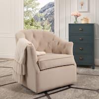 Abbyson Leland Swivel Club Chair