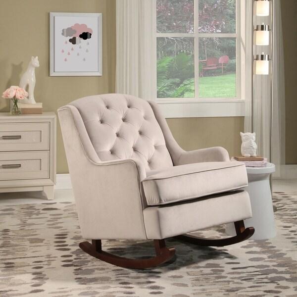 Abbyson Theresa Velvet Rocking Chair