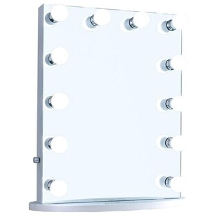ReignCharm Hollywood Vanity Mirror with LED Bulbs, Dual Outlets & USB