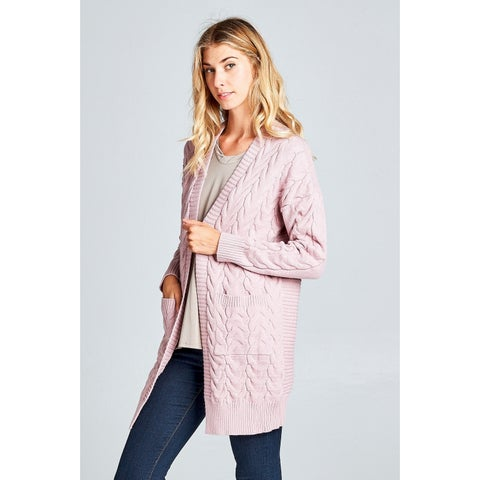 Spicy Mix Kamari Chunky Cable Knit Cardigan Sweater