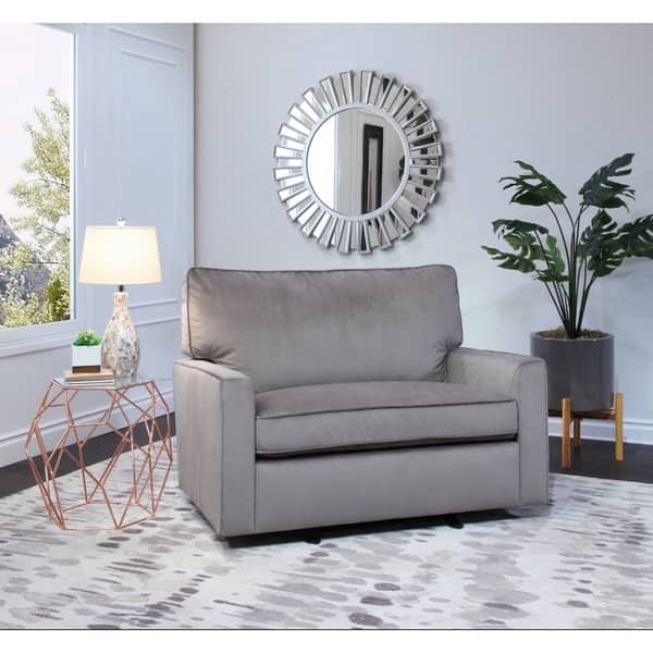 Pleasing Shop Abbyson Lakin Grey Oversized Velvet Glider Chair And Bralicious Painted Fabric Chair Ideas Braliciousco