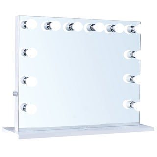 ReignCharm Hollywood Vanity Mirror with 12 LED Lights, Dual Outlets & USB