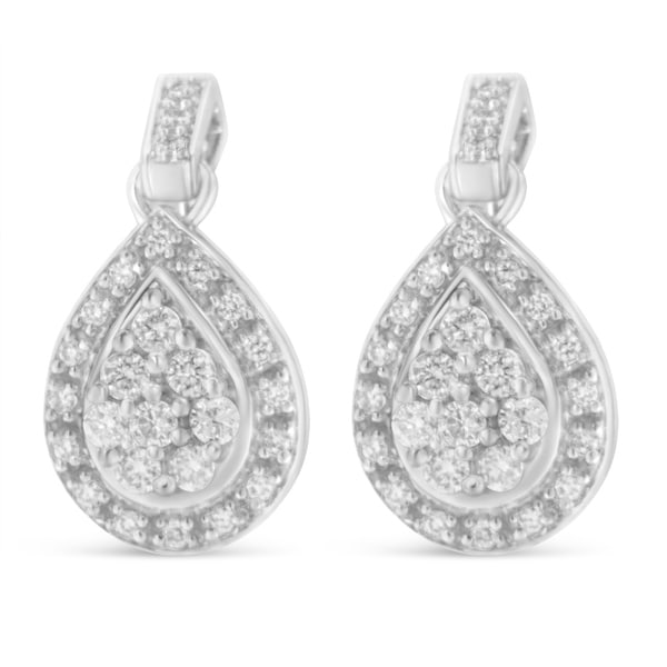 Shop 10K White Gold 0.75 Ct. TDW Pear Shaped Diamond