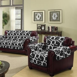 Quick Fit Rhys Collection Waterproof Geometric Print Quilted Reversible Chair Protector - 69x75""