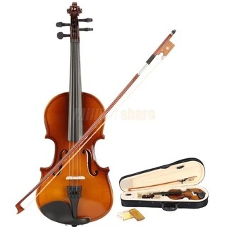 1/8 Suitable for 4-5 Years Old Kids Acoustic Violin+Case+Bow+Rosin