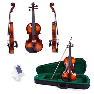 4/4 Solid Wood Violin Set w/ Accessories Xmas Promotions for Beginner