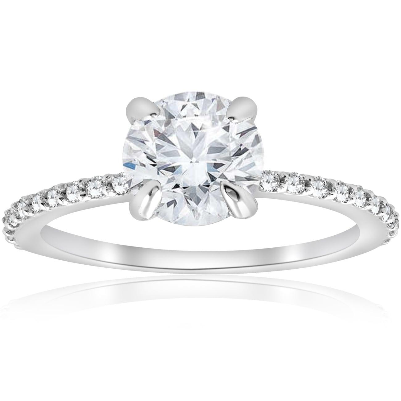 14k White Gold Over 925 Round Genuine Round Diamond Men/'s Cross Ring
