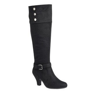 Forever FP09 Women's Ankle Strap Buckle Wrapped Heel Knee High Boots