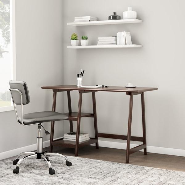 Porch & Den RiNo McFarland A-frame Espresso Desk
