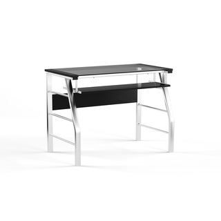 Porch & Den LoDo Delgany Silver Computer Desk