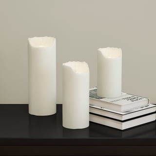 Porch & Den Brooklyn Heights Montague Smooth Ivory Flameless Pillar Candle