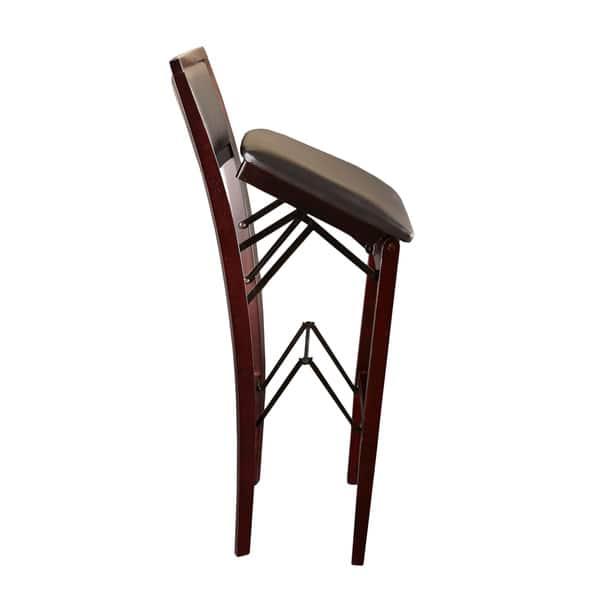 Excellent Shop Porch Den Aldersey Espresso Padded Back Folding Bar Bralicious Painted Fabric Chair Ideas Braliciousco