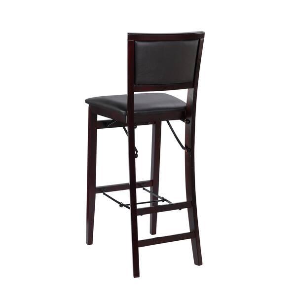 Excellent Shop Porch Den Aldersey Espresso Padded Back Folding Bar Ncnpc Chair Design For Home Ncnpcorg