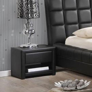 Baxton Studio Massey Faux Leather Upholstered Modern Nightstand