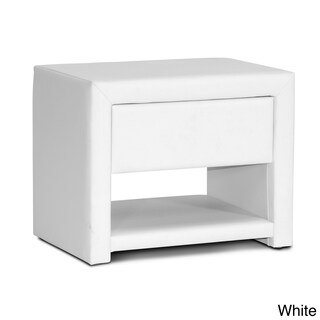 Porch & Den Victoria Park Sunrise Faux Leather Upholstered Nightstand