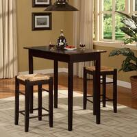 Porch & Den Prospect Hill Quincy Espresso 3-piece Dinette Set