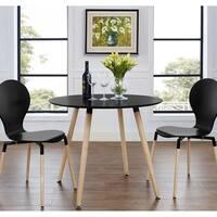 Porch & Den Silver Lake Azalea Black/ Natural Dining Table