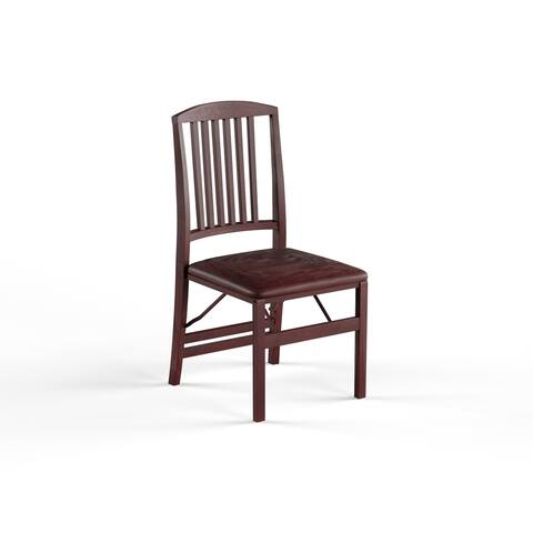 Porch & Den Lowell Espresso Folding Chair (Set of 2)