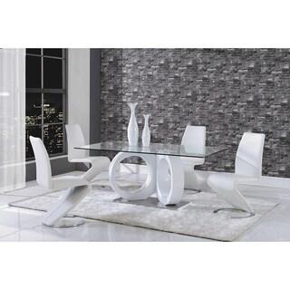 Modern White Polyurethane Leather Dining Chair
