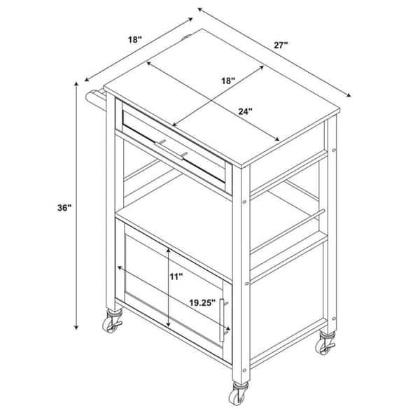 Shop Porch & Den Bigelow Mobile Kitchen Cart - Free Shipping ...