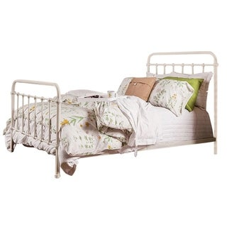 Iria Contemporary Vintage White EK Size Bed
