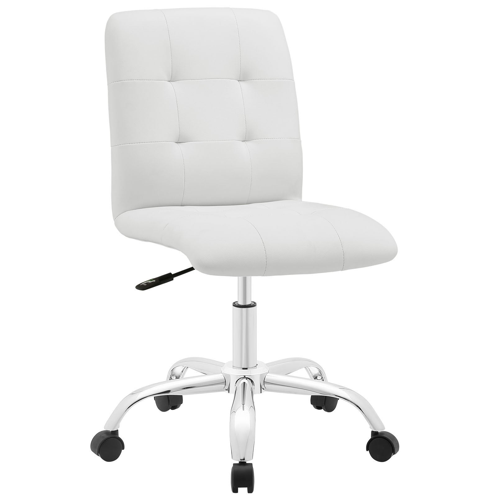 Porch U0026 Den Silver Lake Rainbow Mid Back Office Chair (Option: White)