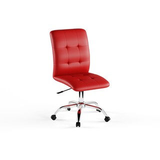 Porch & Den Silver Lake Rainbow Mid Back Office Chair (Option: Red)